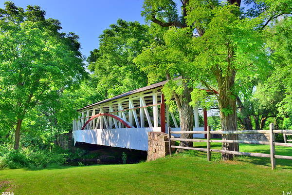 Photograph - Dr. Knisley Covered Bridge 3 by Lisa Wooten
