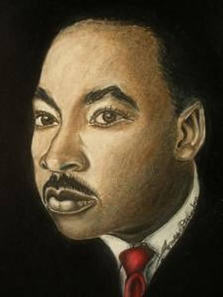 Wall Art - Drawing - Dr. Martin Luther King Jr. by Dunbar's Modern Art