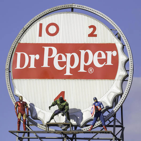 Wall Art - Photograph - Dr Pepper And The Avengers Squared by Keith Mucha