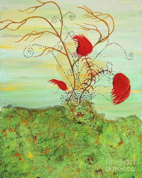 Netting Painting - Dr. Seuss Flowers by Margaret Goetze