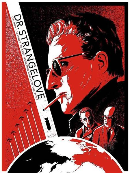 Dr. Strangelove Theatrical Poster Number Three 1964 Art Print