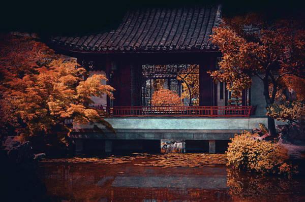 Chinese Pavilion Photograph - Dr. Sun Yat-sen Garden by Maria Angelica Maira