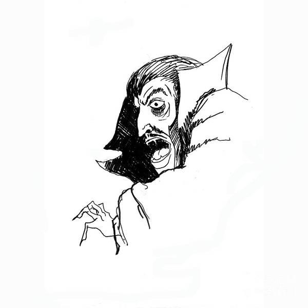 Drawing - Dracula by Art MacKay