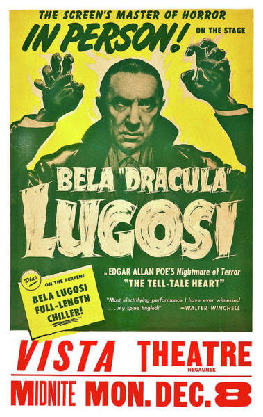 Dracula Painting - Dracula, Bela Lugosi, Vintage Horror Movie by Long Shot