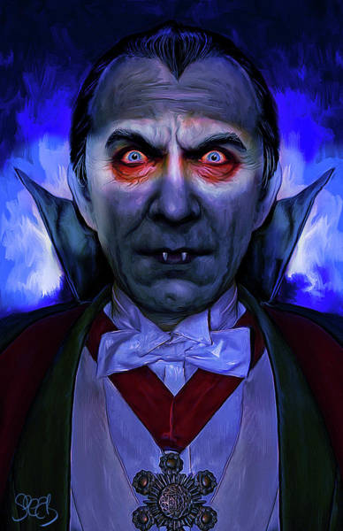 Spear Wall Art - Mixed Media - Dracula by Mark Spears