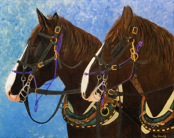 Art Print featuring the photograph Draft Horse Portrait by Dee Browning