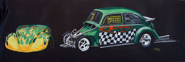 Painting - Drag Racing Vw by Richard Le Page