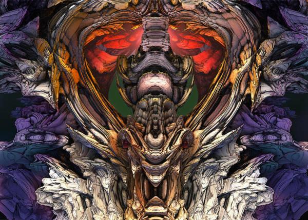 Digital Art - Dragaon Heart Temple by Mary Almond