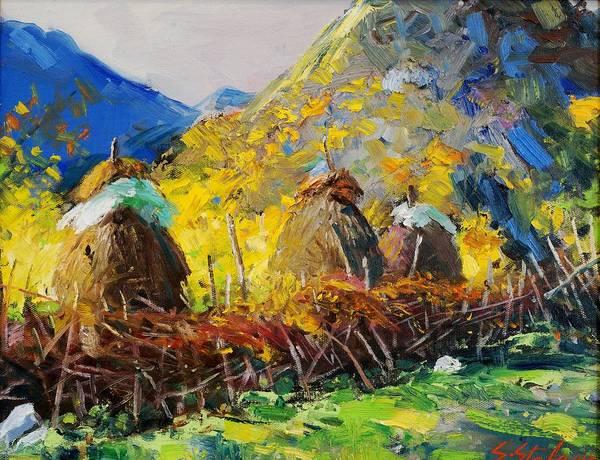 Painting - Dragobia Of Legends, Valbona by Sefedin Stafa