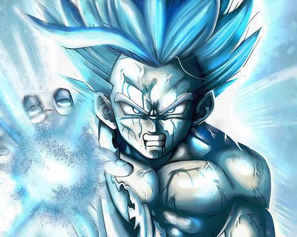 New Trend Digital Art - Dragon Ball Z Father Son Kamahamaha by Gareth Williams