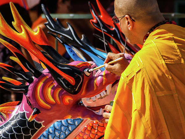 Photograph - Dragon Boat Ceremony  by Stewart Helberg