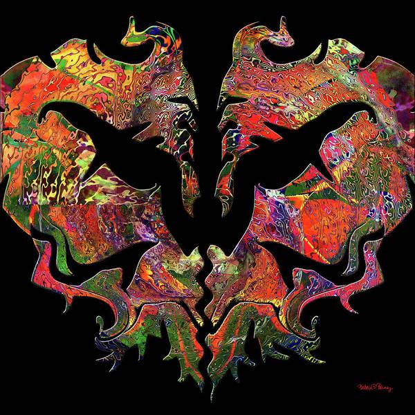 Digital Art - Dragon Dance by Barbara Berney