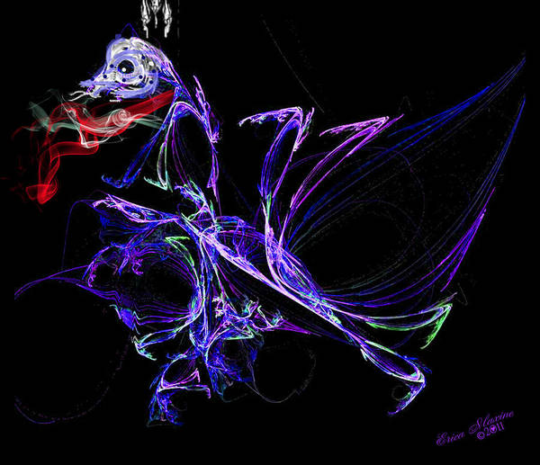 Digital Art - Dragon Dance by Ericamaxine Price