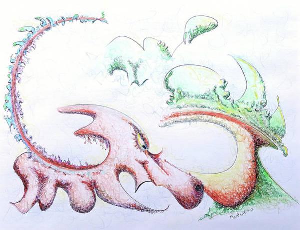 Drawing - Dragon by Dave Martsolf
