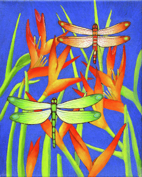 Dragon Fly Painting - Dragon Fly 3 by Jane Whiting Chrzanoska