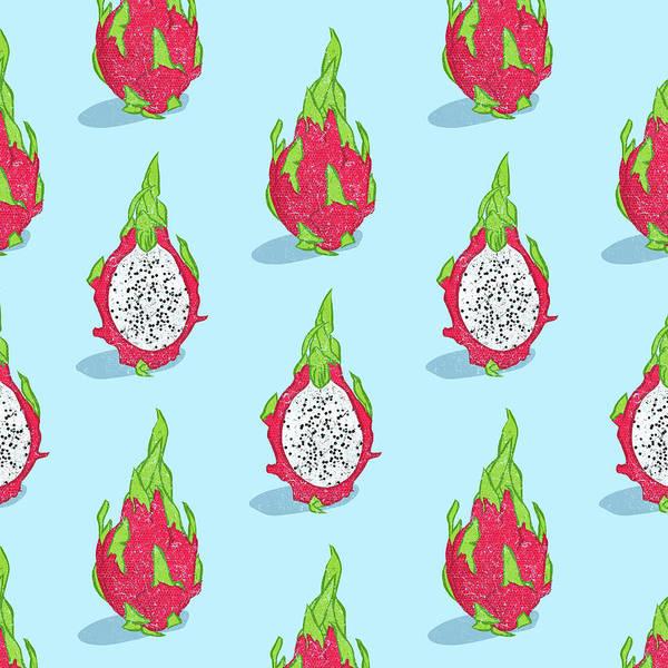 Delicious Digital Art - Dragon Fruit by Evgenia Chuvardina