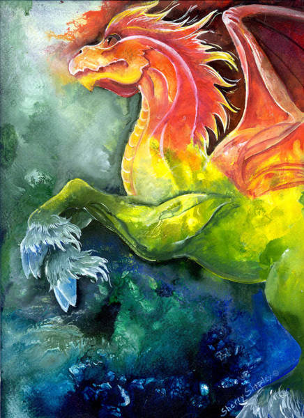 Painting - Dragon Horse by Sherry Shipley