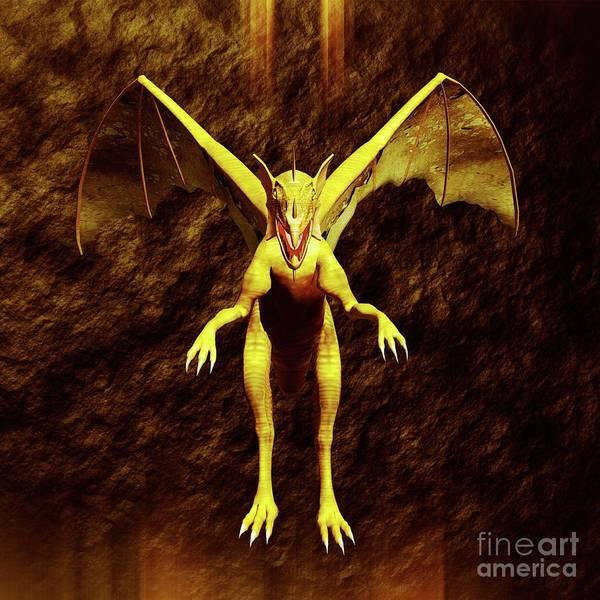 Satan Digital Art - Dragon Lord By Sarah Kirk by Sarah Kirk