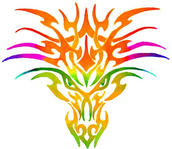 Fantasy Painting - Dragon Mask by Sarah Krafft
