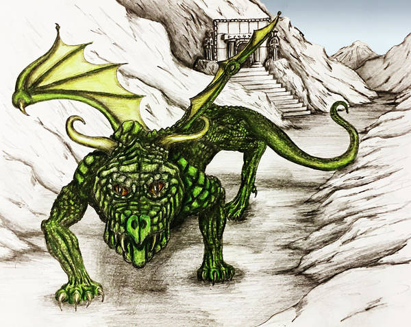 Sorcery Drawing - Dragon Pass by Michael Lee