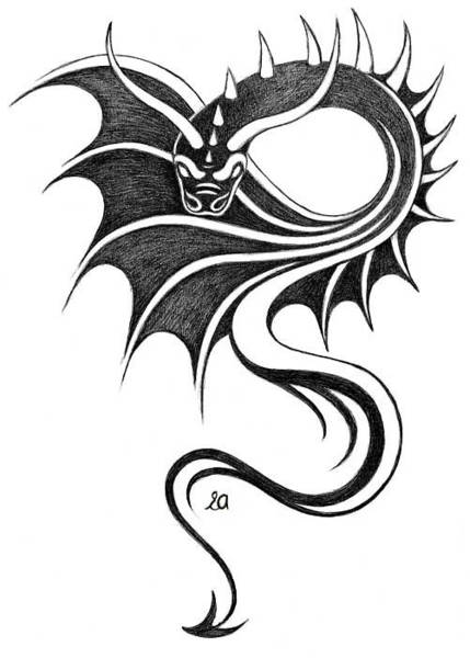 Erla Alberts - Dragon-tattoo