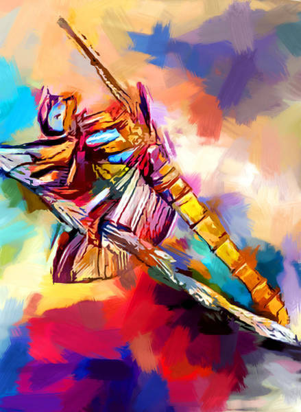 Wall Art - Painting - Dragonfly 2 by Chris Butler