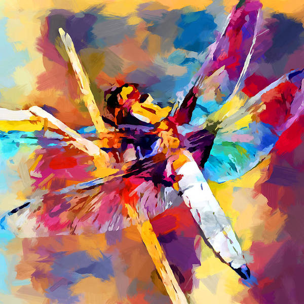 Wall Art - Painting - Dragonfly 3 by Chris Butler