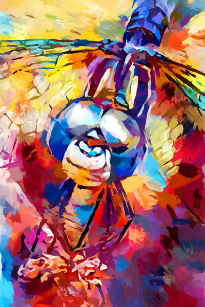 Wall Art - Painting - Dragonfly 5 by Chris Butler