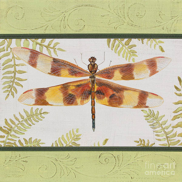 Yellow Ribbon Painting - Dragonfly Beauty-jp3146 by Jean Plout