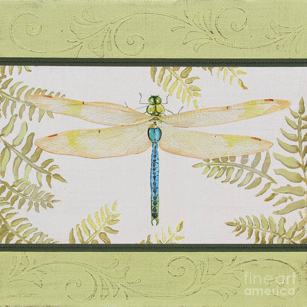 Yellow Ribbon Painting - Dragonfly Beauty-jp3147 by Jean Plout