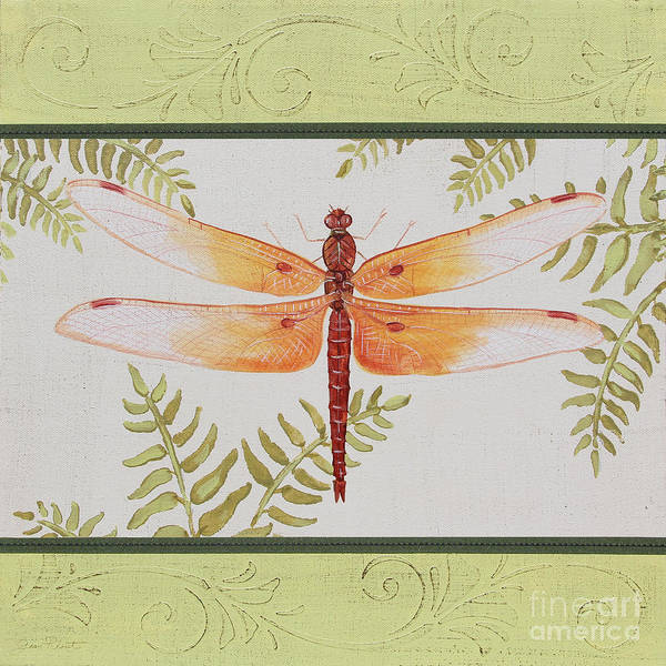 Yellow Ribbon Painting - Dragonfly Beauty-jp3149 by Jean Plout