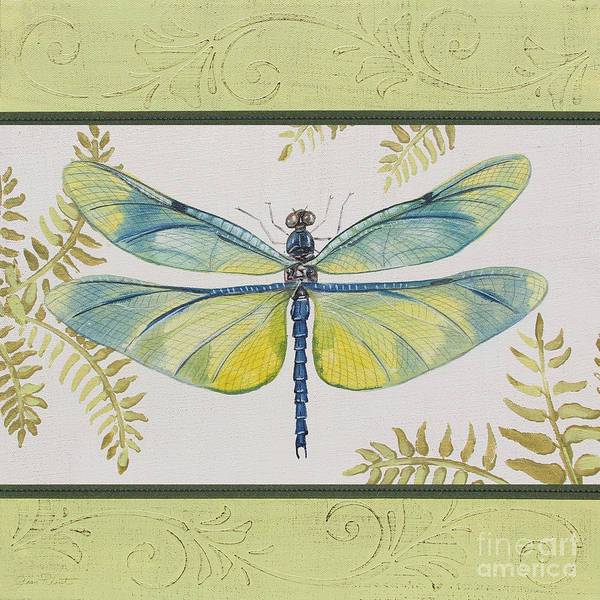Yellow Ribbon Painting - Dragonfly Beauty-jp3150 by Jean Plout