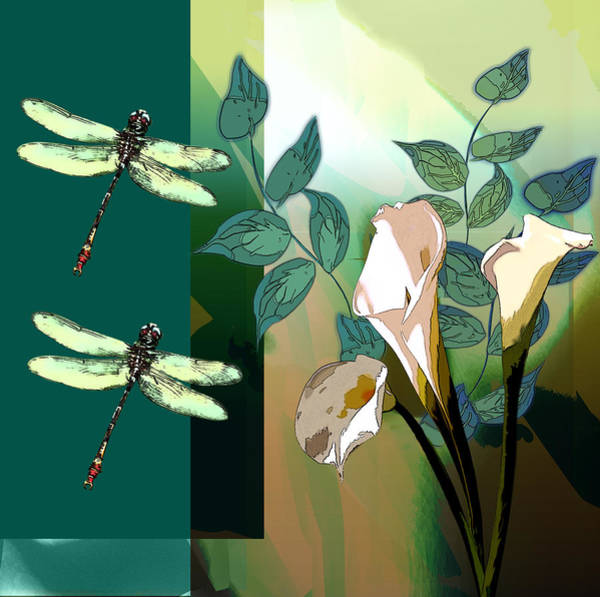 Wall Art - Painting - Dragonfly Dream by Regina Femrite