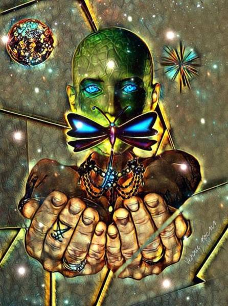 Digital Art - Dragonfly Empath by Vennie Kocsis