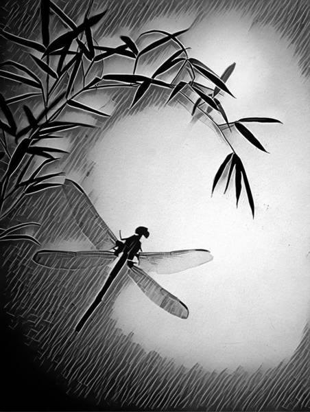 Photograph - Dragonfly In Ink by Mark Fuller
