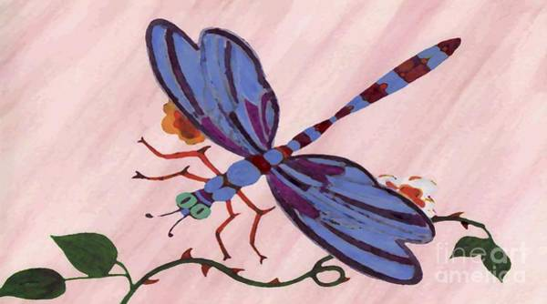 Dragon Fly Painting - Dragonfly by Norman Reutter