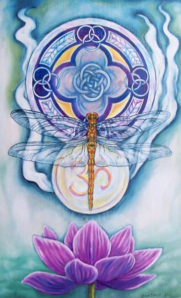 Wall Art - Painting - Dragonfly Spirit by Diana Shively