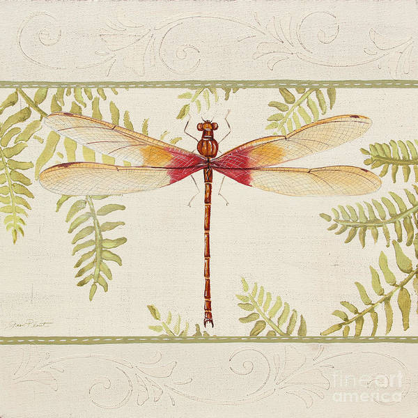 Yellow Ribbon Painting - Dragonfly Wonder-jp3143 by Jean Plout