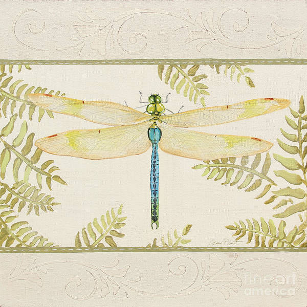 Yellow Ribbon Painting - Dragonfly Wonder-jp3144 by Jean Plout