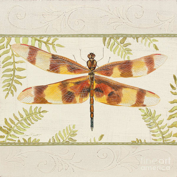 Yellow Ribbon Painting - Dragonfly Wonder-jp3145 by Jean Plout