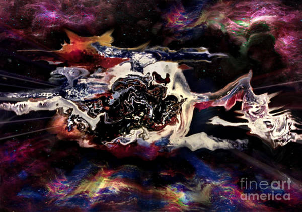 Mixed Media - Dragons Nebula by David Neace