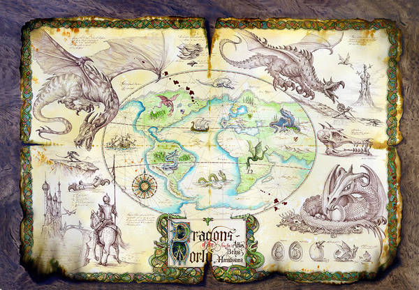 Mythical Photograph - Dragons Of The World by MGL Meiklejohn Graphics Licensing