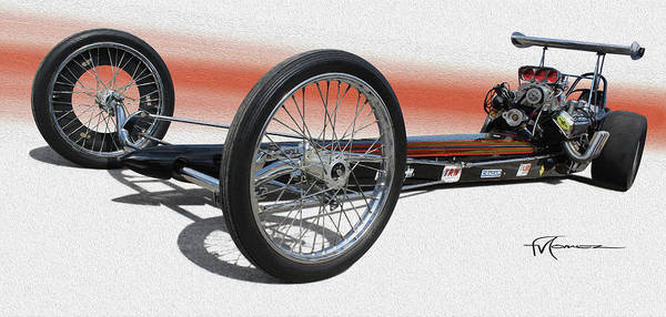 Wall Art - Photograph - Yester-year Dragster by Felipe Gomez