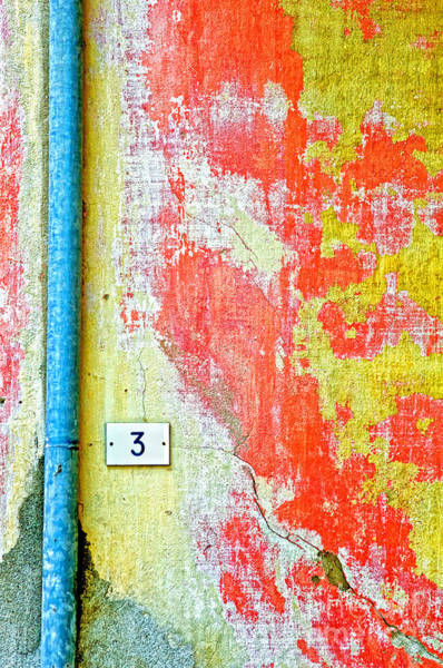 Wall Art - Photograph - Drainpipe Amazing Wall And Number Three by Silvia Ganora