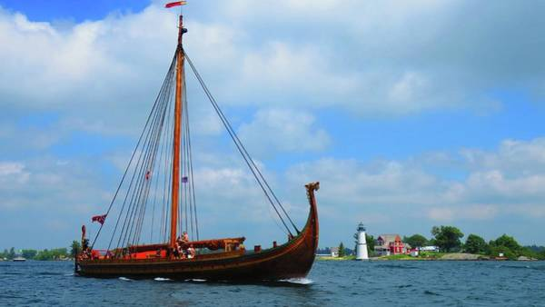 Photograph - The Draken Passing Rock Island by Dennis McCarthy