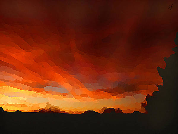 Drama At Sunrise Art Print