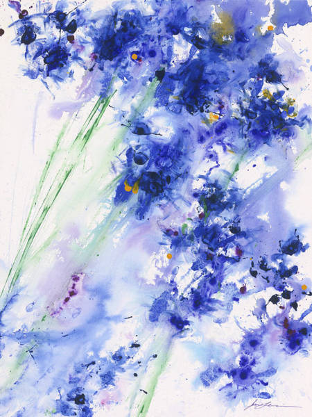 Ultramarine Blue Painting - Drama Of Life Blue by Jerome Lawrence