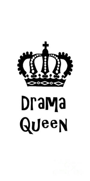 Drawing - Drama Queen 1 by Edward Fielding