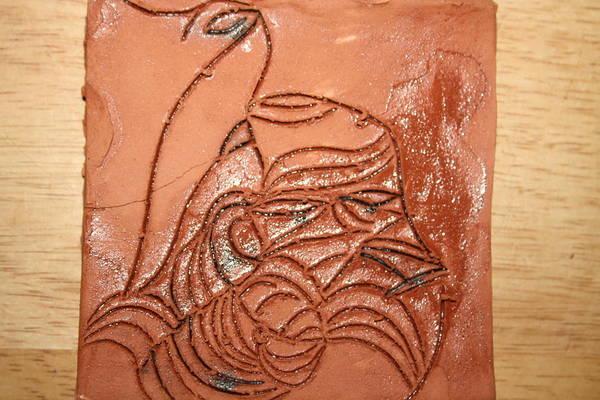Ceramic Art - Dramaqueen 1 - Tile by Gloria Ssali