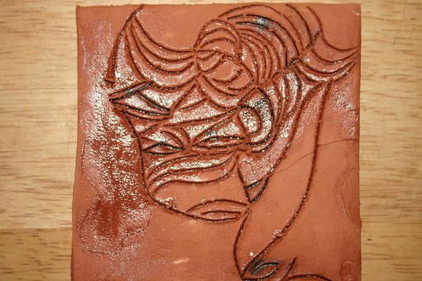 Ceramic Art - Dramaqueen 2 - Tile by Gloria Ssali